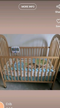 Baby crib with mattress Brampton, L6V 3G5