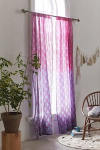 New urban outfitters pink purple ombré medallion audra curtains Dunn Loring, 22027