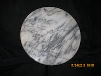 "10"" Marble Cheese Plate / Protective Hot Plate / Cutting Board"
