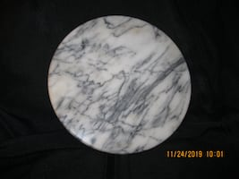 """10"""" Marble Cheese Plate / Protective Hot Plate / Cutting Board"""