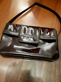 black and gray leather handbag Montréal, H4J 1J7