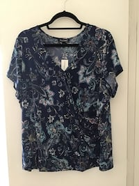 Floral Wrap Knit Top | Size 2X | New with Tags Ashburn, 20147