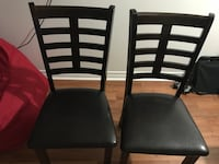 6 brown wooden framed padded chairs Halifax, B3H 4K5