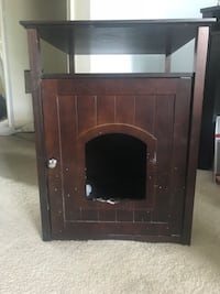 brown wooden framed electric fireplace Woodbridge, 22192