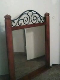 brown wooden framed wall mirror Las Vegas, 89122