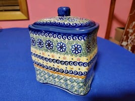Polish Pottery Storage Container