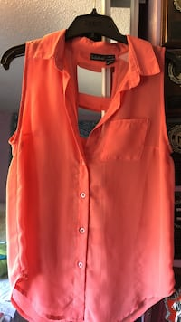 orange button-up sleeveless blouse Newmarket, L3Y 5T4
