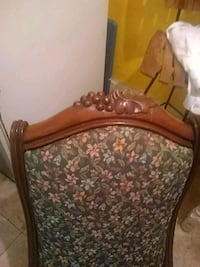 brown wooden frame with floral print padded chair Washington, 20020