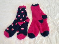 NWT Kensie Softee Socks (2 Pack) Fuchsia & Navy Women's Shoe Size 4-10