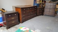 Two wooden dressers and two nightstands Germantown