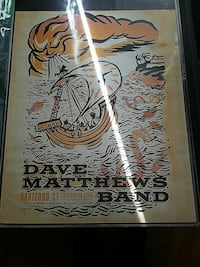 Dave Matthews screenprinted poster
