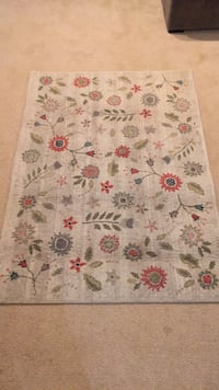 white, red, and green floral area rug Fairfax, 22032
