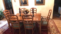 brown wooden dining table set McHenry, 60050