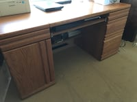 brown wooden pedestal desk Ottawa, K1G