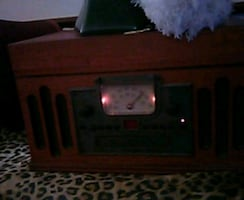 Record player with rasio never been used