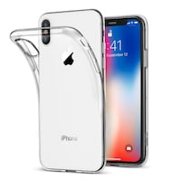 PHONE CASE ULTRA-THIN TPU CLEAR PHONE CASE - FOR IPHONE X OSLO