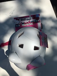 New with tags-White Hello Kitty bicycle helmet Grimsby, L3M 3H5