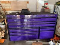 Snap on tool box purple &black with black wheels