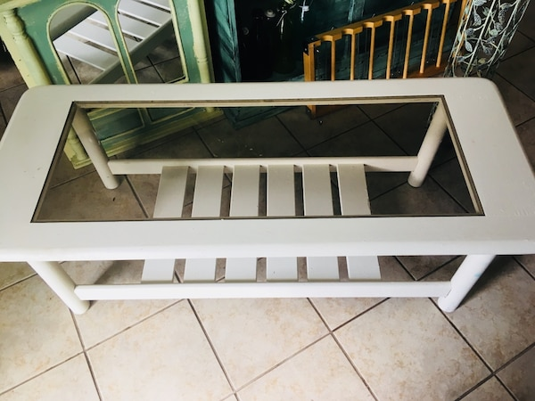 Pleasant Used Rectangular Clear Glass Top Coffee Table With White Andrewgaddart Wooden Chair Designs For Living Room Andrewgaddartcom
