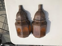 Two Moroccan wall sconces. Los Angeles, 90048