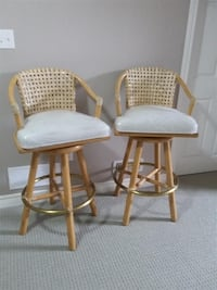 McGuire Furniture Solid Bamboo Tall Counter Bar Stools (SET OF 2) - MUST GO ASAP