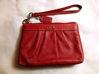 Authentic COACH Red Leather Wristlet Zippered Wallet Lake Forest, 92630