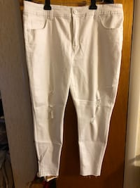 Melissa McCarthy White Denim Pencil Jeans.  Size 20. NEVER WORN Philadelphia, 19128