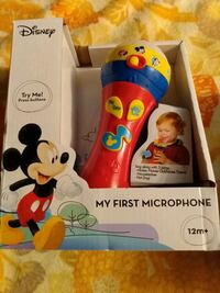 Disney first toy musical microphone new