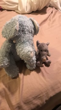 two black and white animal plush toys Sherwood Park, T8H