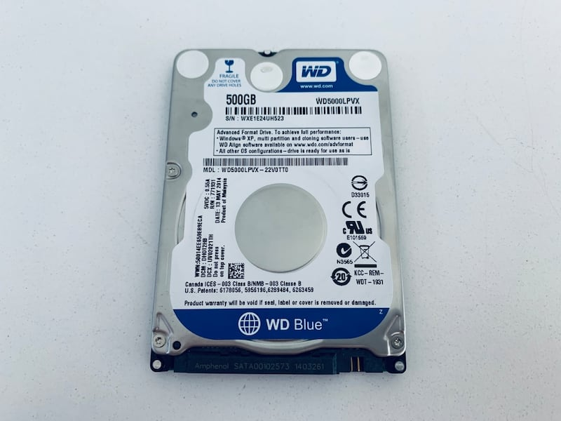 500 GB laptop harddiski (500 GB HDD) 228985b8-8cb1-44e0-965d-7d9878b00c81