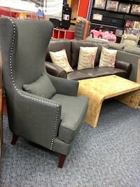 New Grey wing back chair w/ nailhead accent Virginia Beach, 23462