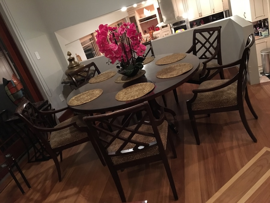 used ethan allen table set with chairs 6 for sale in bellmore letgo rh gb letgo com