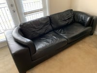 black leather 3-seat sofa Fairfax, 22033