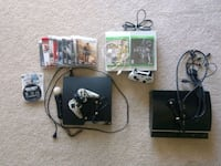 black Xbox 360 console with controller and game cases Columbia, 21045