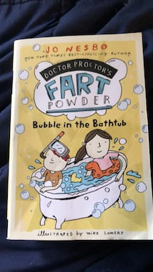 Fart powder bubble in the bubble bath