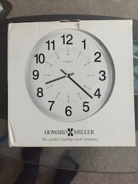 White and black analog wall clock Germantown, 20876