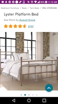 Rose gold twin bed London, N5Y 3E5