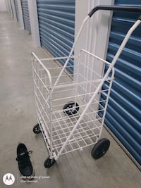 Extra-Large White Wired Push Cart