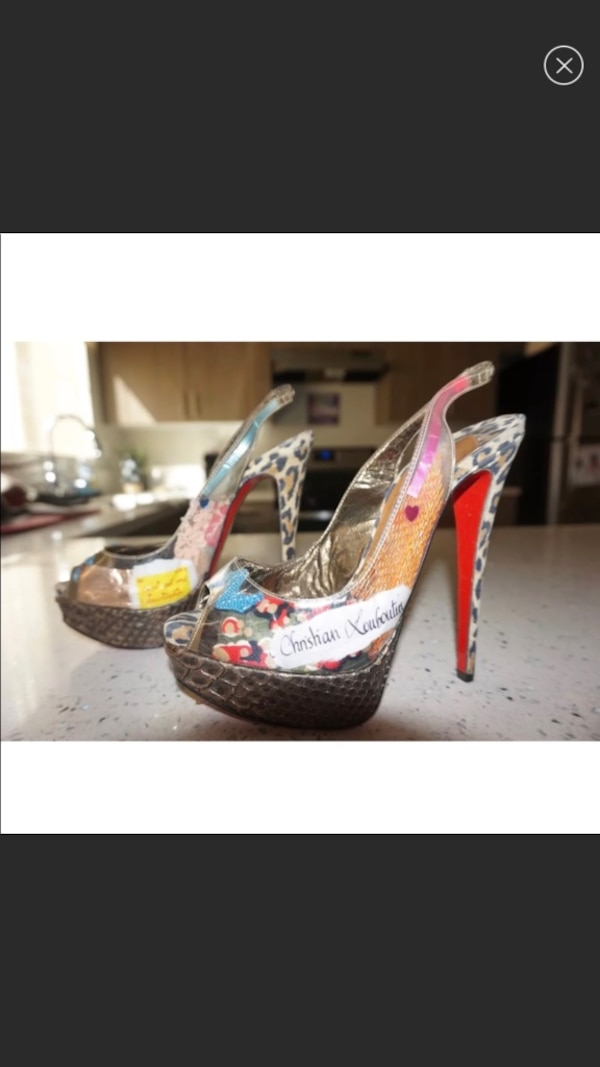 finest selection d1054 6feb0 Christian Louboutin Winter Trash 150 PVC/Suede leopard Peeptoe Slingback  SZ. EU 36 / US 6 100% authentic. These fabulous shoes are very stunning and  ...