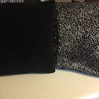 Black and silver leopard print pillows Helotes, 78023