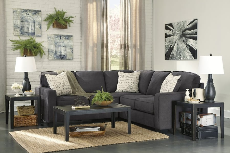 New Ashley Alenya Charcoal LAF Sectional 72a05fc3-fc44-4b8d-a907-1ea75a7964f0