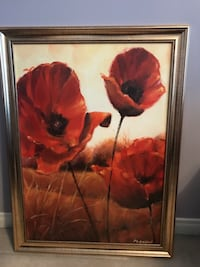 Framed Color flower print