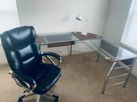 Complete Office Set (Chair, Desk, and Lamp)