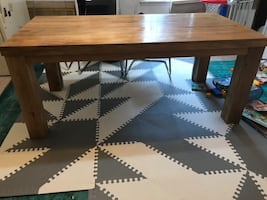 Oak Wood Dining Table & Chairs