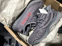 Adidas yeezy boost 350 v2 (bnib) - grey / bold orange / dgh solid grey