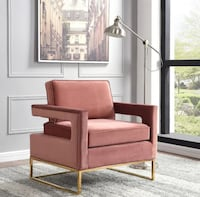 New pink and golden legs accent chair Waterloo