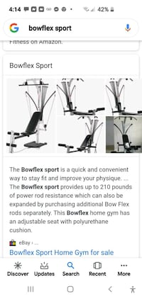 2 Bowflex Sport 1 is free for extra parts