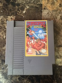 NES Super Spike V' Ball Game Cartridge Nintendo