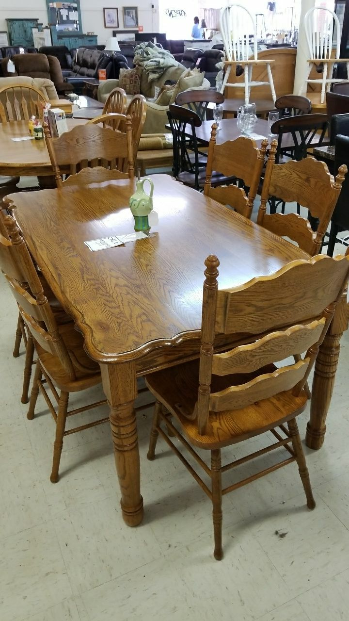 brukt solid oak table and 6 chairs til salgs i cornelia letgo rh se letgo com