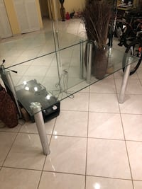 Kitchen glass table